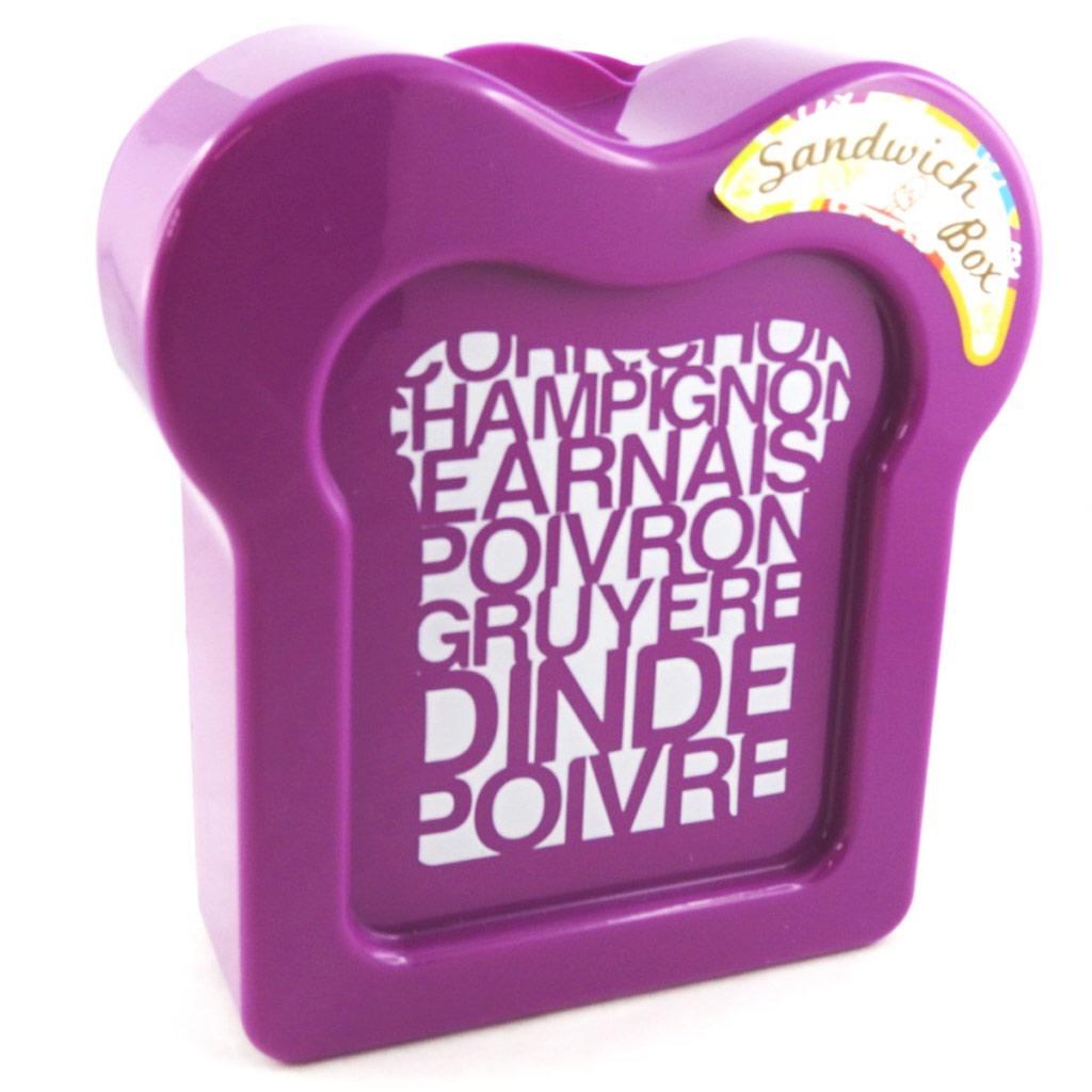 Boite à sandwich \'Coloriage\' violet - [M3958]