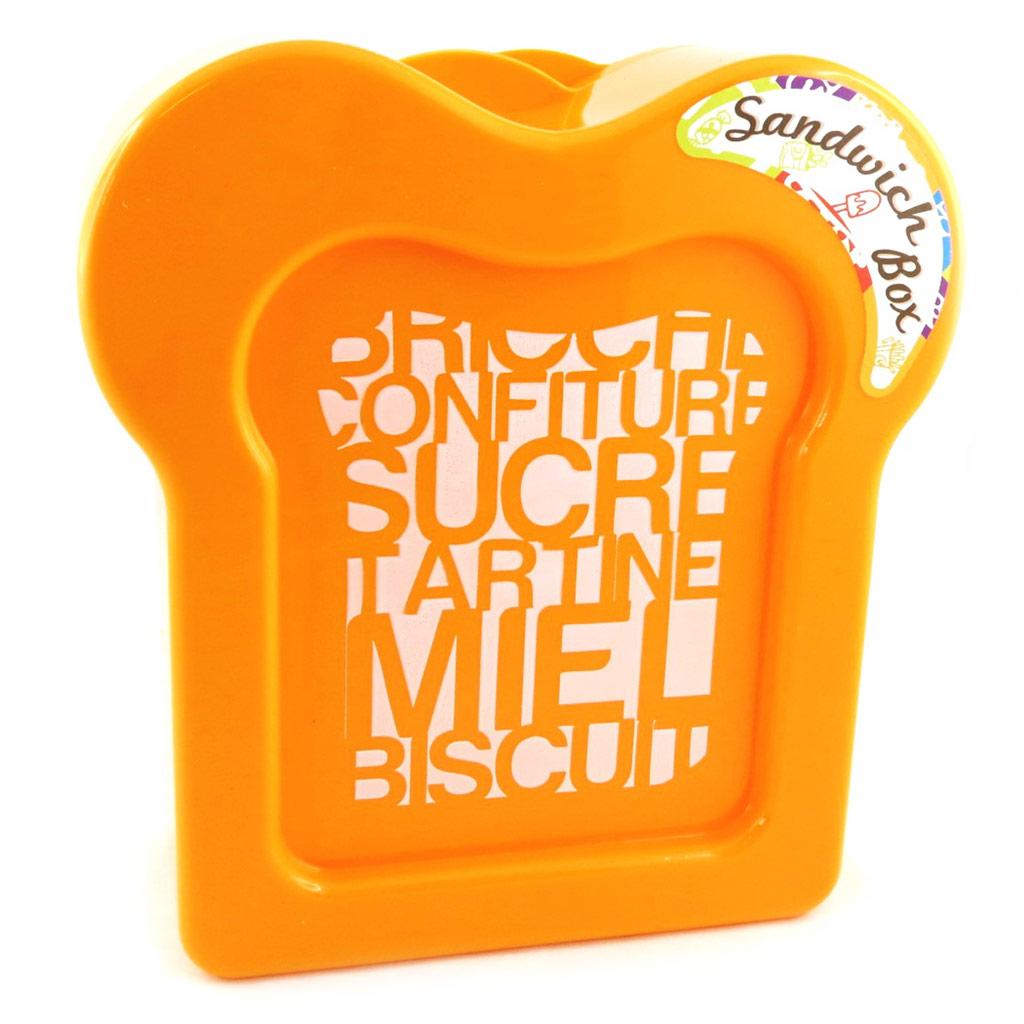 Boite à sandwich \'Coloriage\' orange - [M3959]