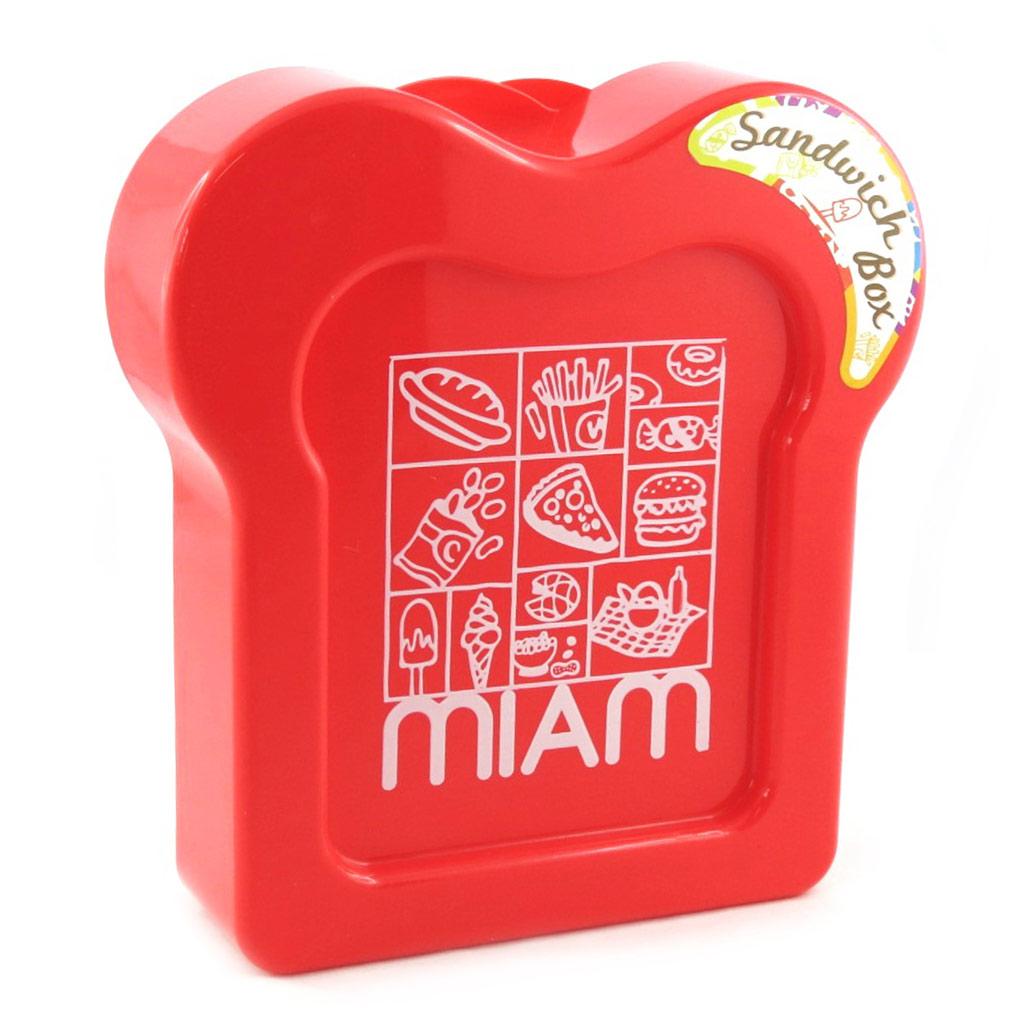 Boite à sandwich \'Coloriage\' rouge - [M3960]