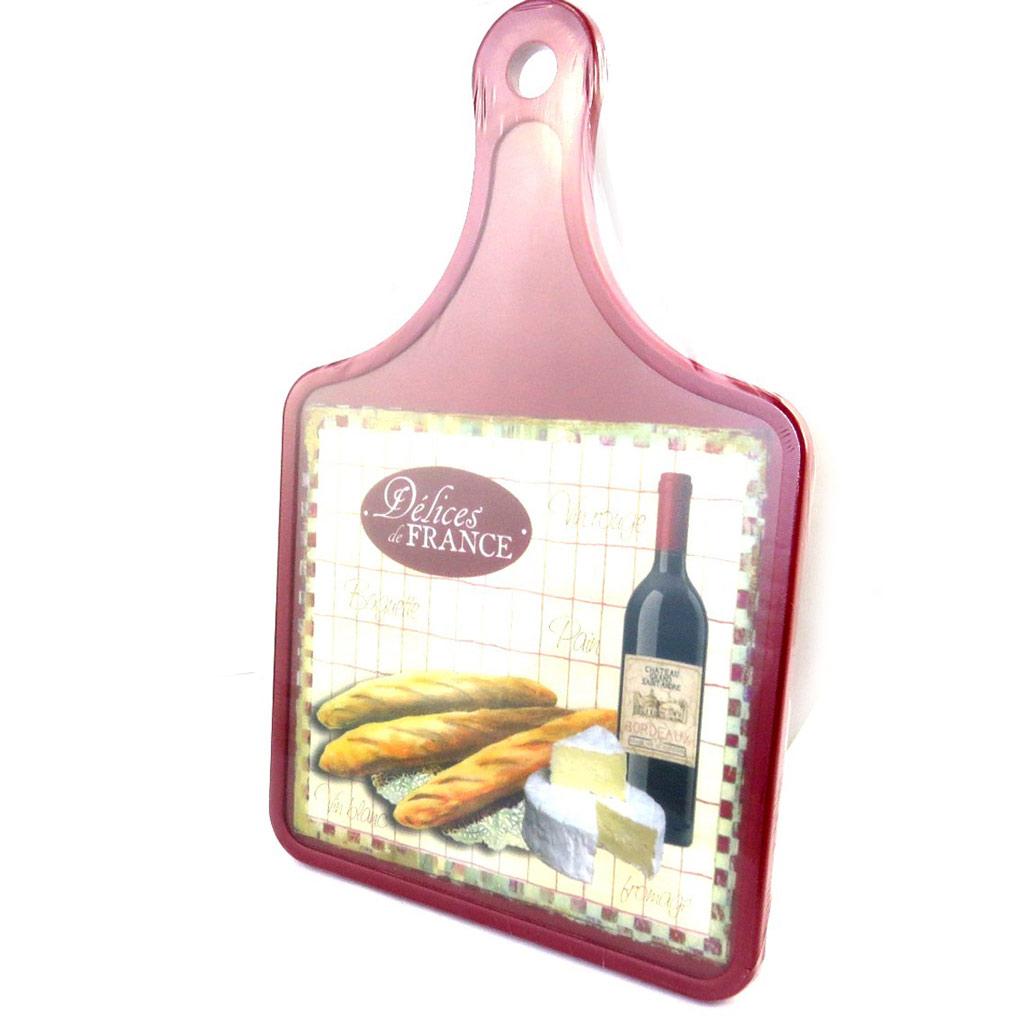 Planche à découpe \'Terroir Français\' vin et fromage (30x20 cm) - [M4888]