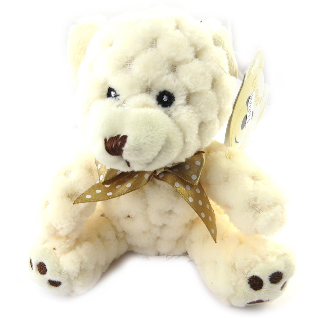 Peluche design \'Teddy Bear\' beige (16 cm) - [M4897]