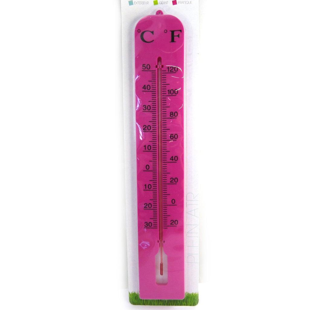 Thermomètre géant \'Coloriage\' rose (40 cm) - [M7704]