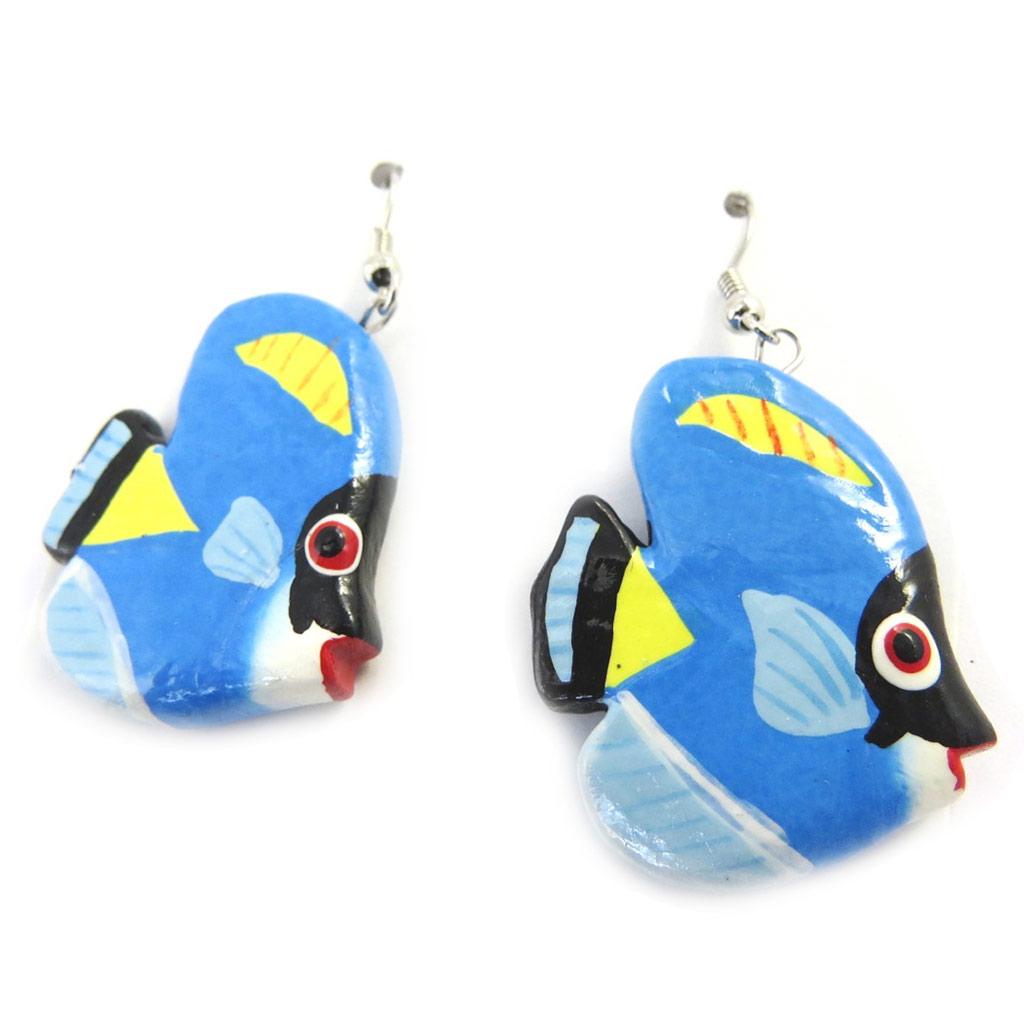 Boucles \'Poissons\' bleu - [M8094]
