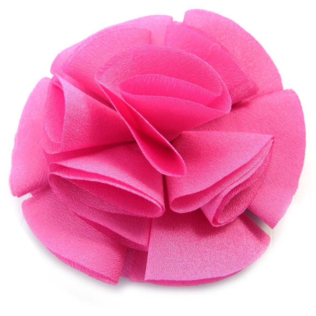 Broche Créateur \'Rose Féérique\' rose  - [M8096]