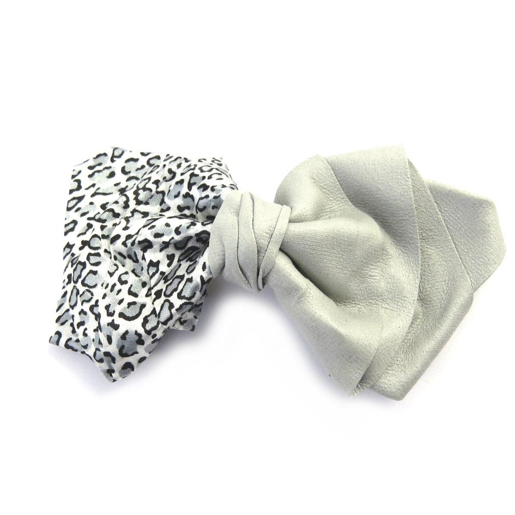 Barrette créateur \'Scarlett\' gris léopard - [M8097]