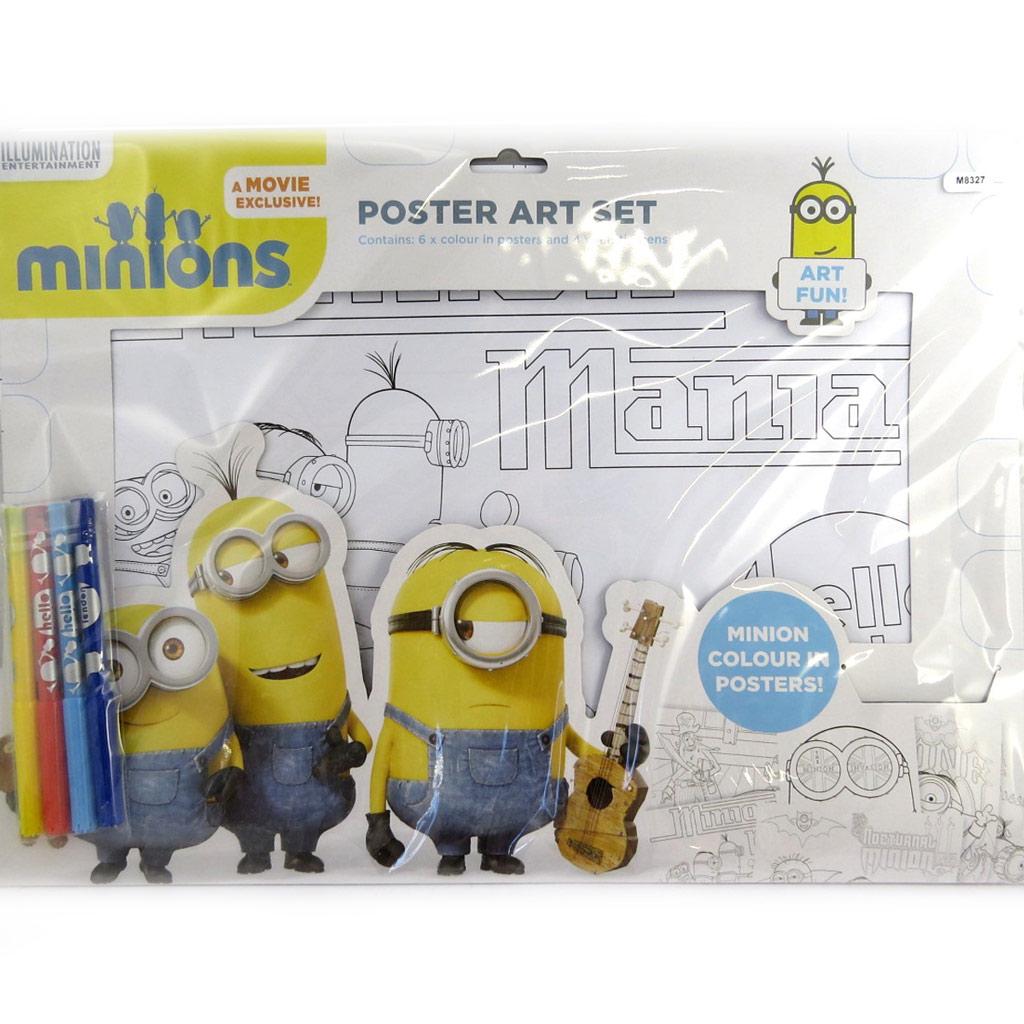 Set coloriage poster \'Minions\' (42x31) - [M8327]