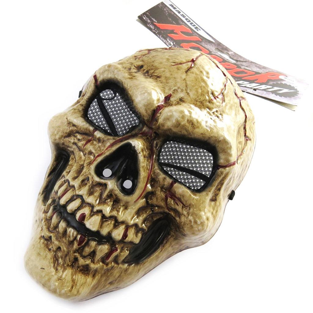 Masque de déguisement \'Tête de Mort\' marron (horror party) - [M9101]