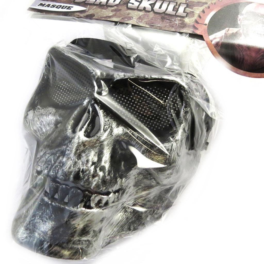 Masque de déguisement \'Tête de Mort\' gris - [M9102]