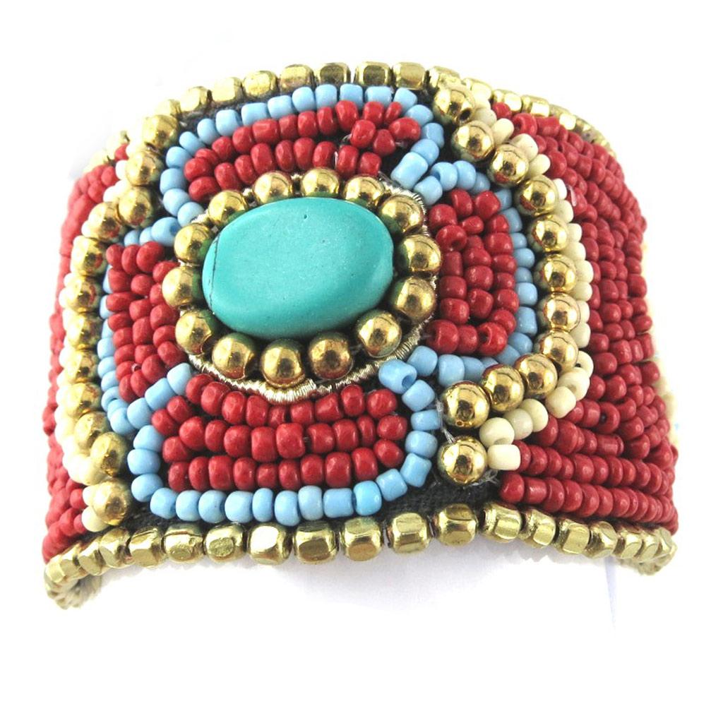 Bracelet créateur \'Altaï\' rouge - [N0959]