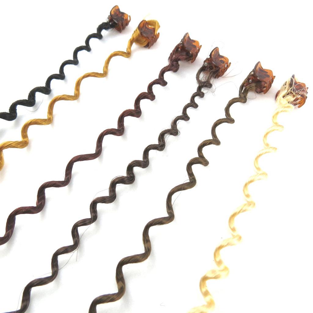 Set de 6 mèches \'Cheveux\' marron - [N1004]
