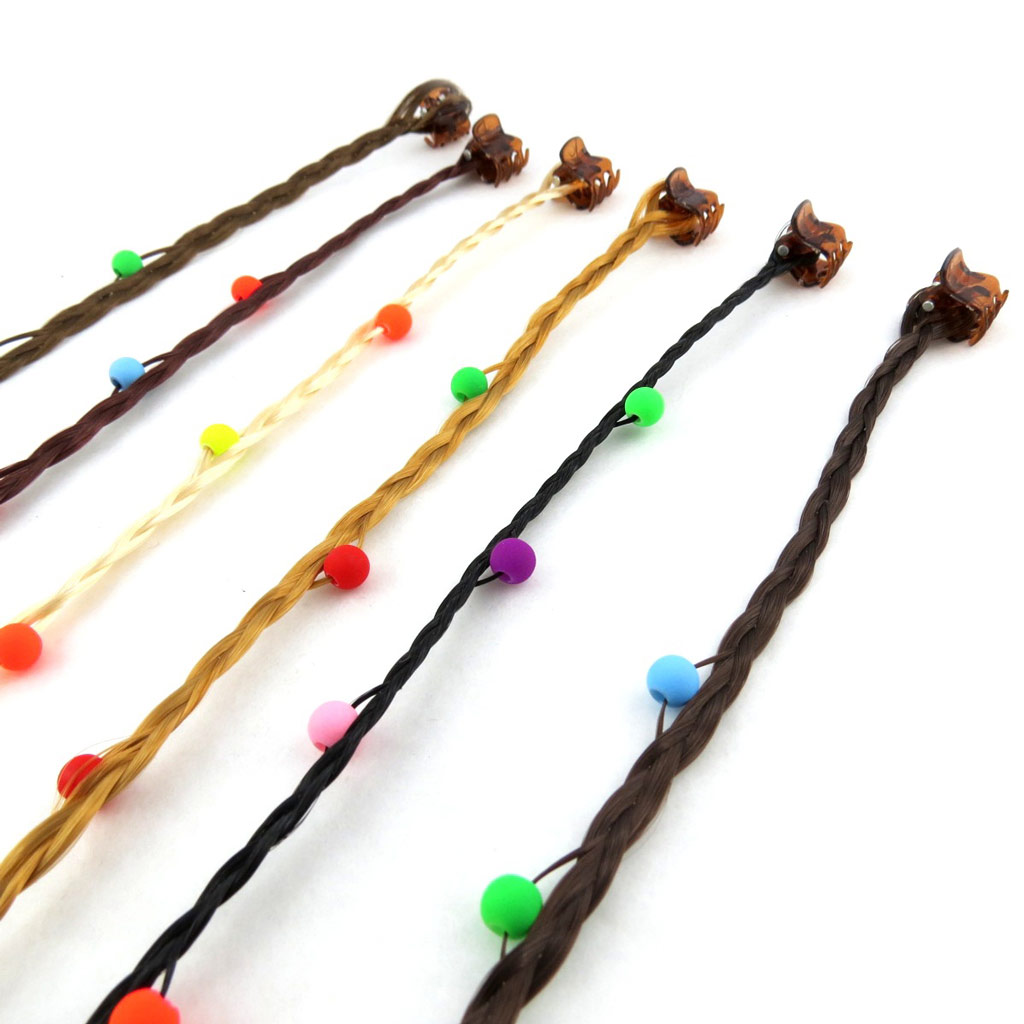 Set de 6 mèches \'Cheveux\' marron - [N1006]