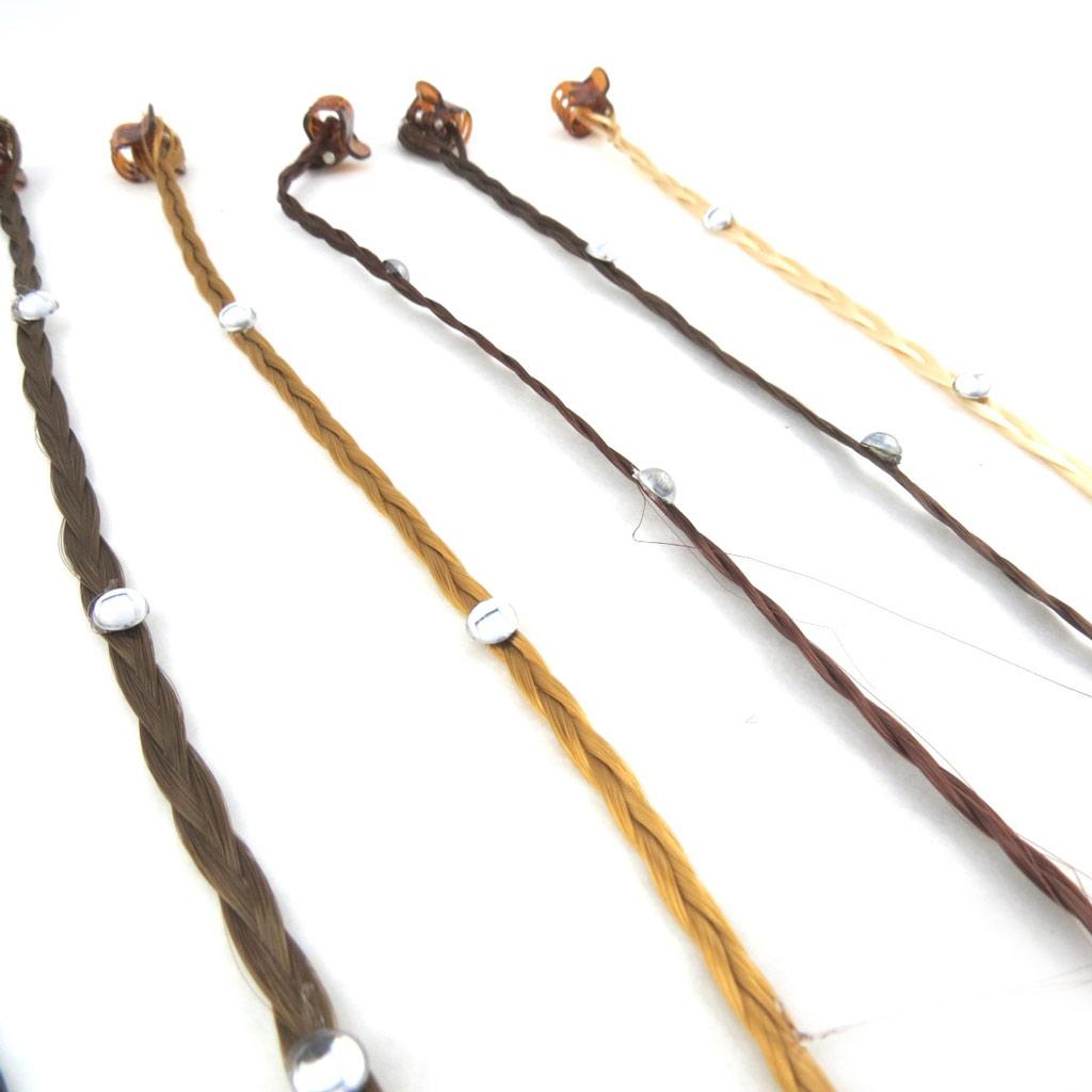 Set de 6 mèches \'Cheveux\' marron - [N1008]