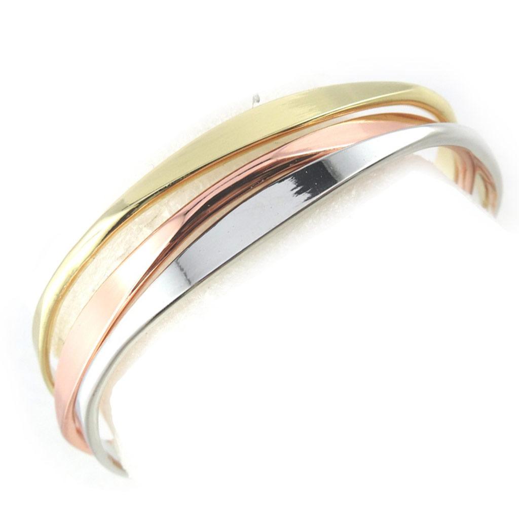 Bracelet \'Chorégraphie\' 3 tons (3 rangs) - [N1014]