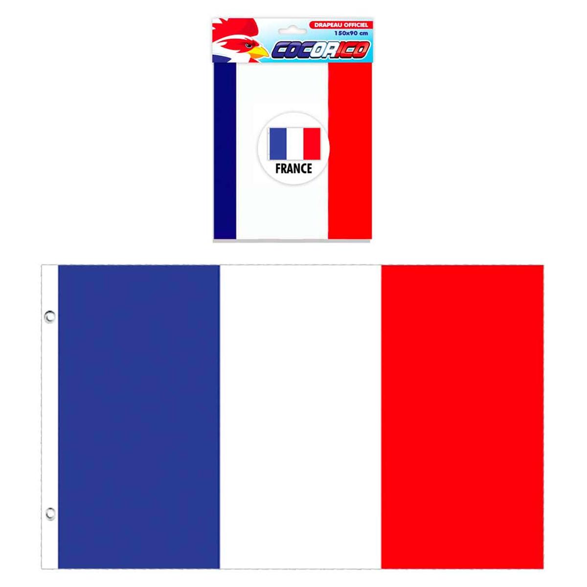 Drapeau \'France\' bleu blanc rouge - 87x147 cm - [N1498]