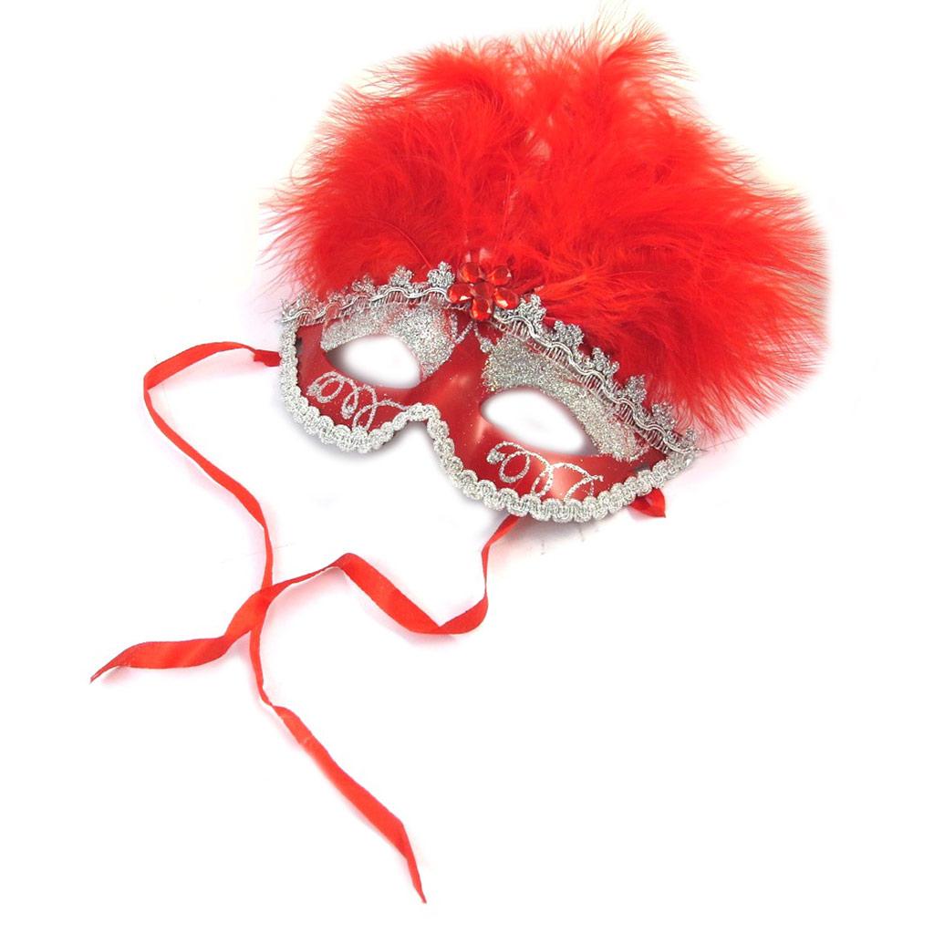 Masque créateur \'Carnaval de Venise\' rouge - [N6173]