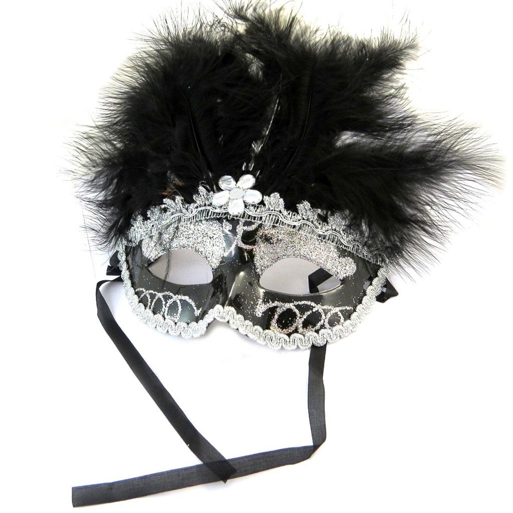 Masque créateur \'Carnaval de Venise\' noir - [N6174]