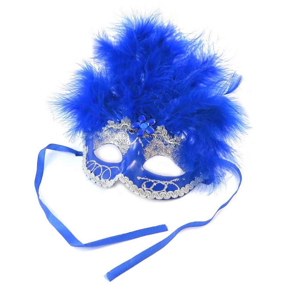 Masque créateur \'Carnaval de Venise\' bleu - [N6175]