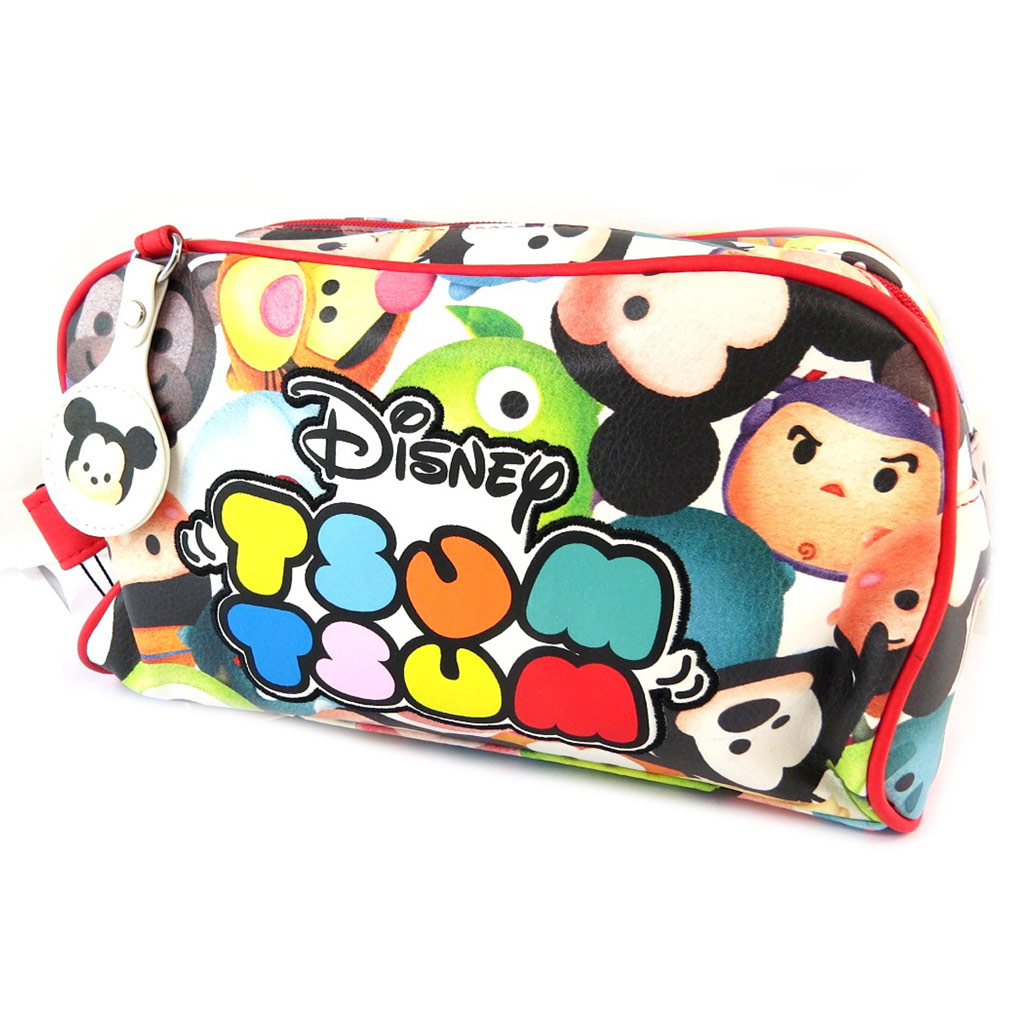 Trousse de toilette \'Disney Tsum Tsum\' rouge multicolore (2 compartiments) - 26x20x10 cm - [N9722]