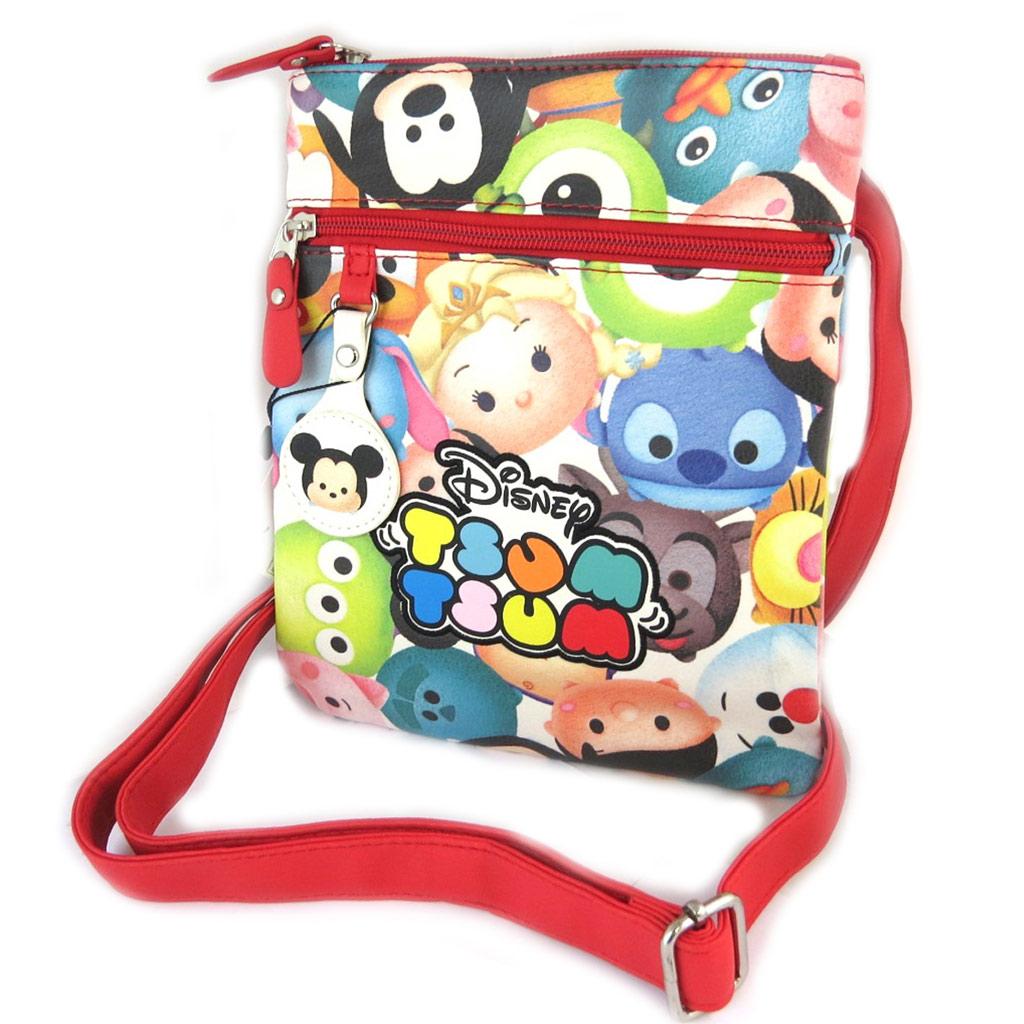 Sac créateur \'Disney Tsum Tsum\' rouge multicolore - 24x20x1 cm - [N9728]