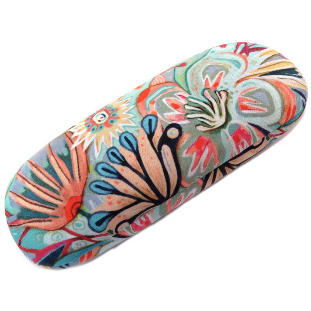 Etui à lunettes créateur \'Allen Designs\' multicolore floral - 15x6 cm - [P5666]