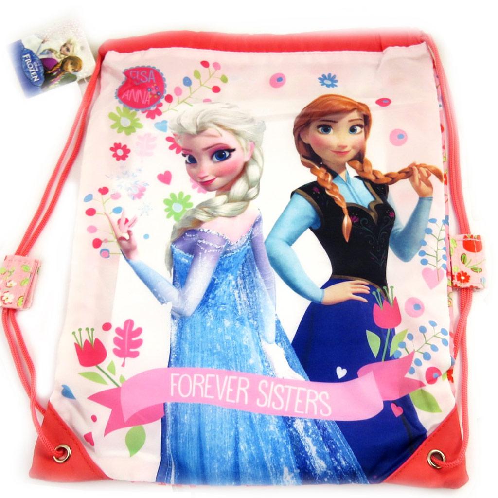 Sac piscine \'Frozen - Reine des Neiges\' blanc rose bleu - 30x40 cm - [M1520]