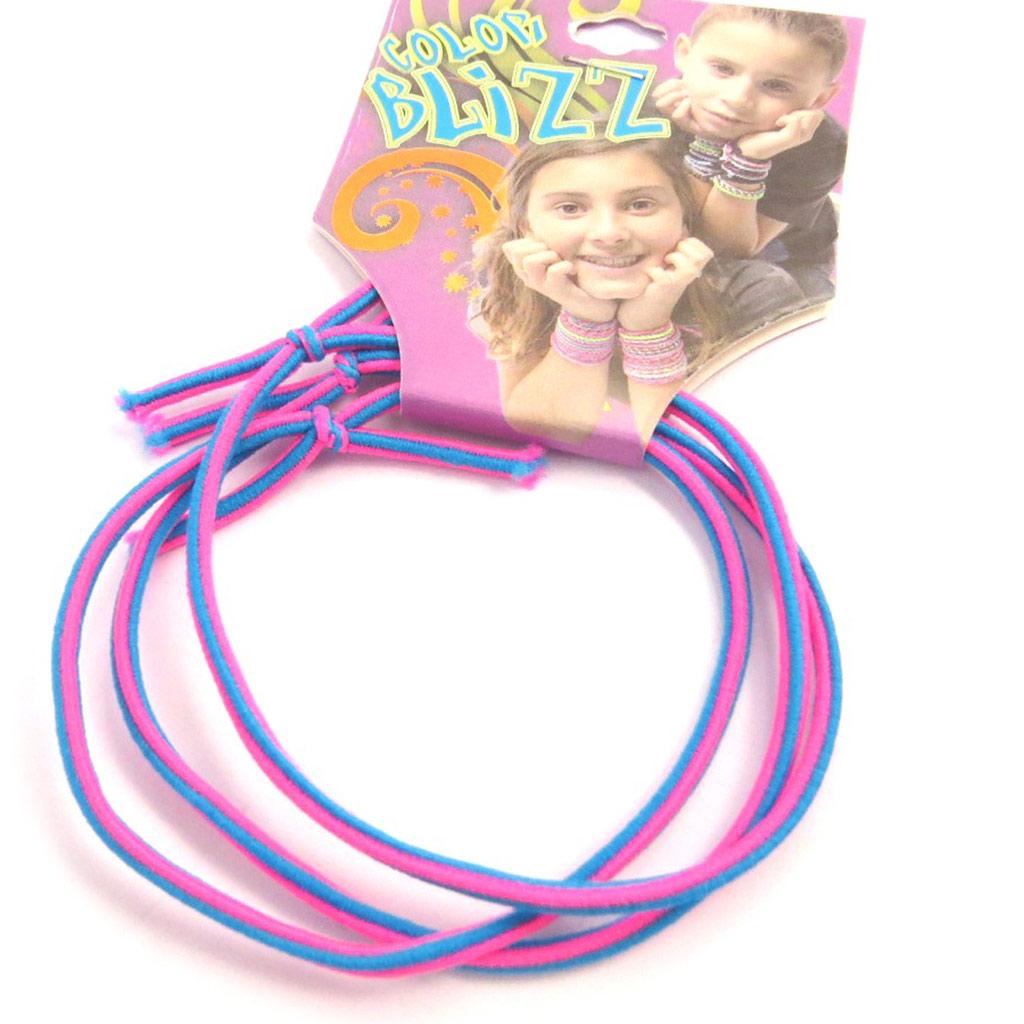 3 bracelets élastiques \'Coloriage\' violet bleu - [M5341]