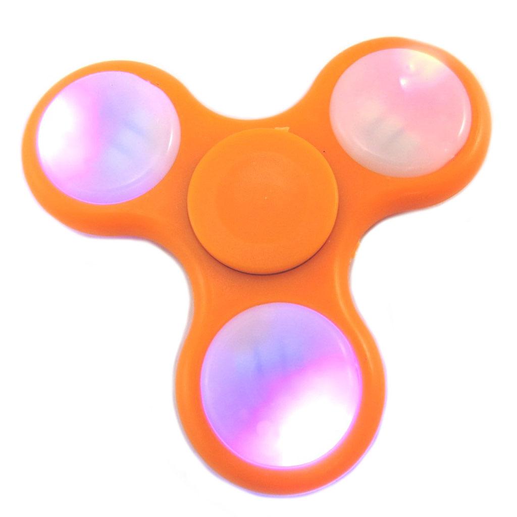 Handspinner led \'Les Lumineux\' orange - 7 cm - [P1758]