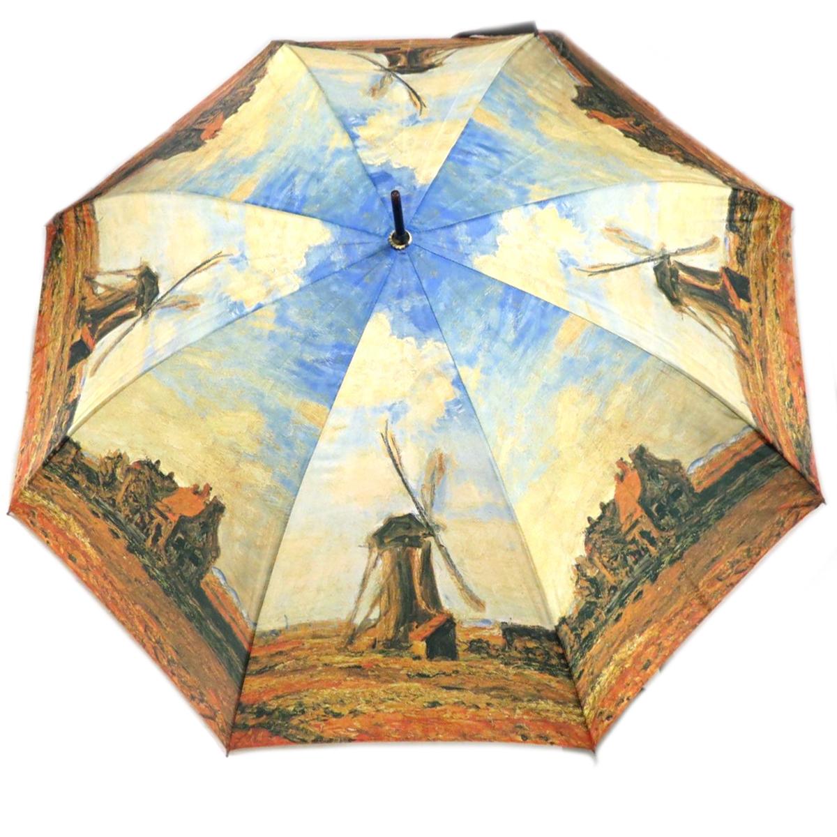 Parapluie canne \'Claude Monet\' (Moulin à Vent) - 88 cm - [Q0157]