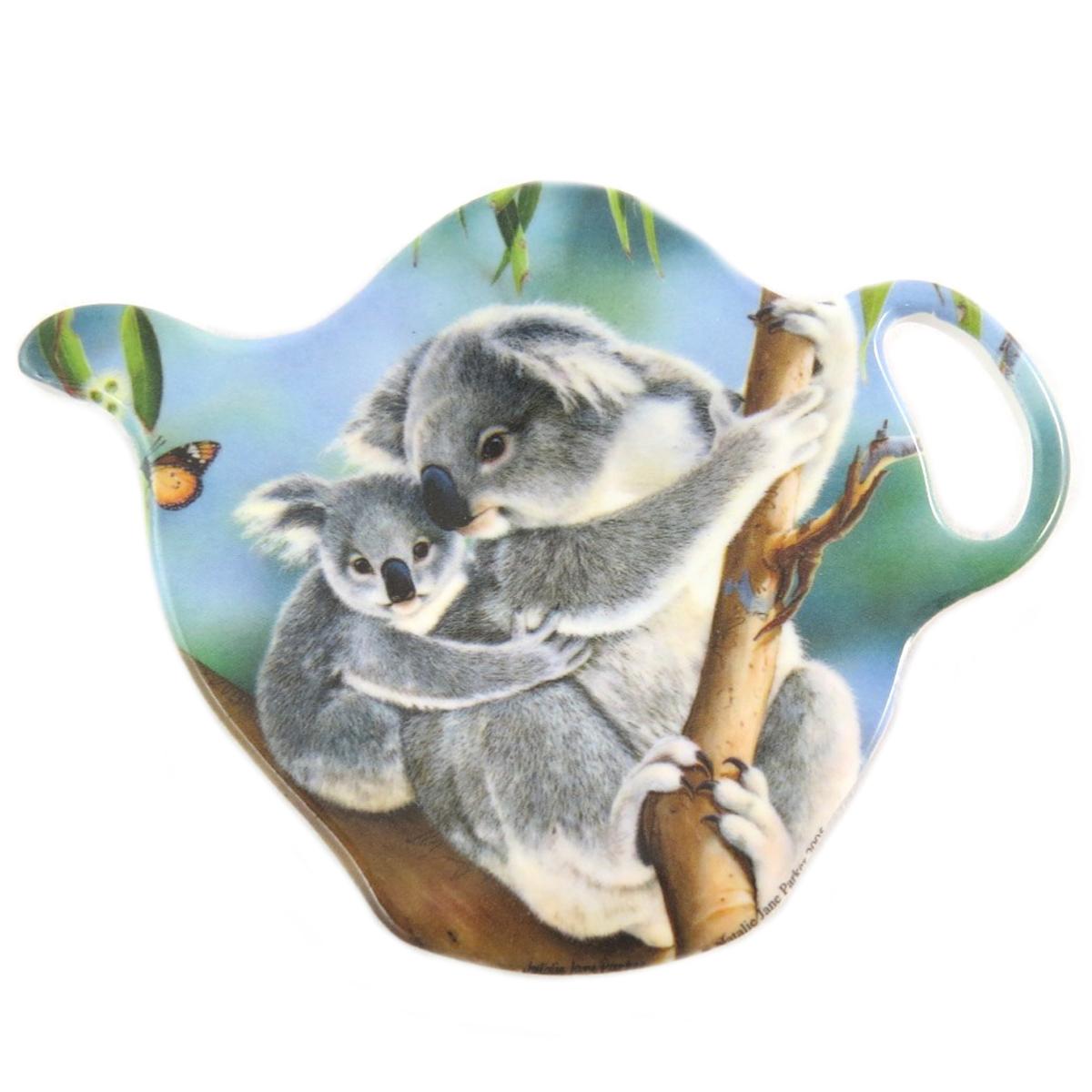 Repose sachets \'Koalas d\'Amour\' gris bleu - 95x7 cm - [Q0192]