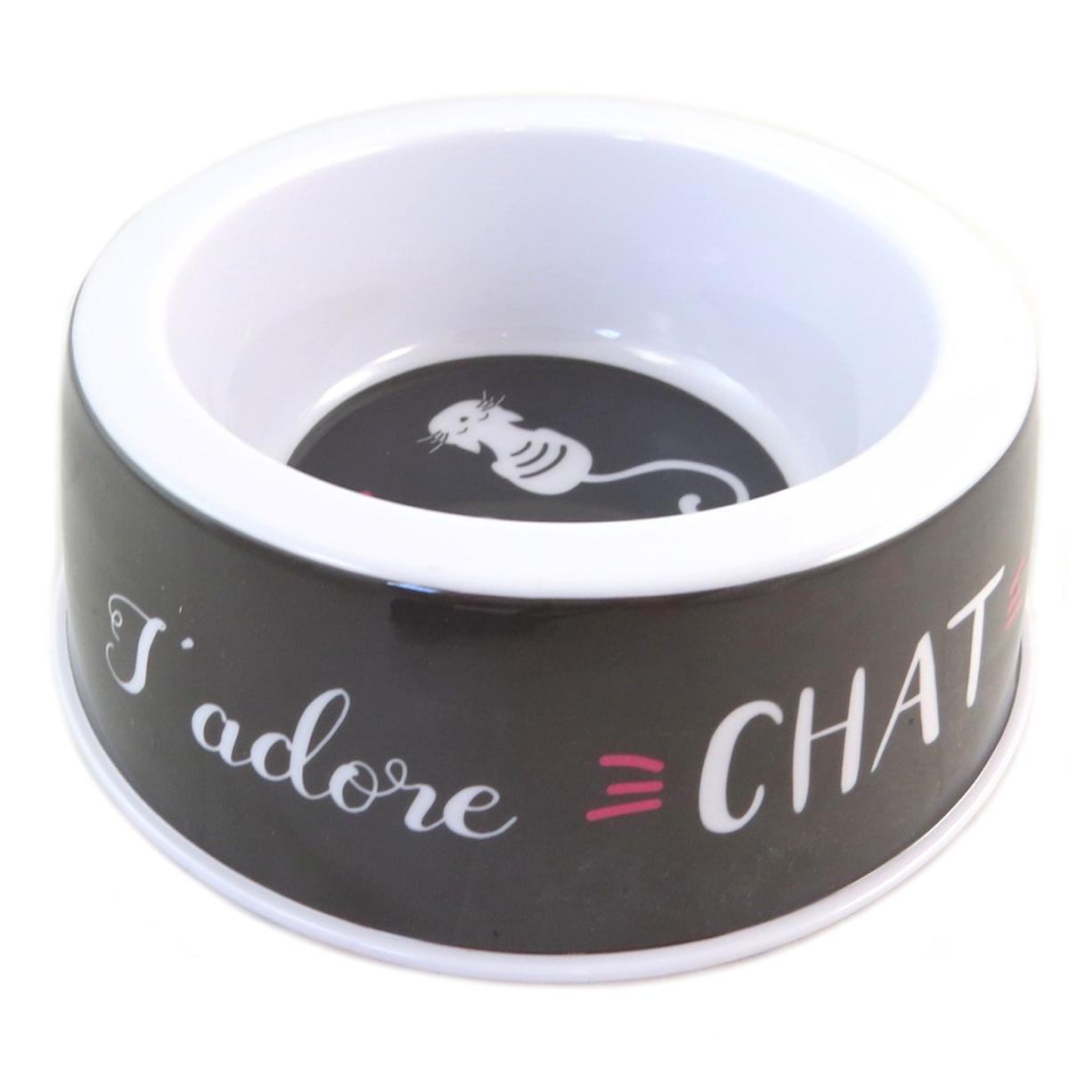 Gamelle créateur \'Chats\' (J\'adore chat) - 19x65 cm - [Q0396]