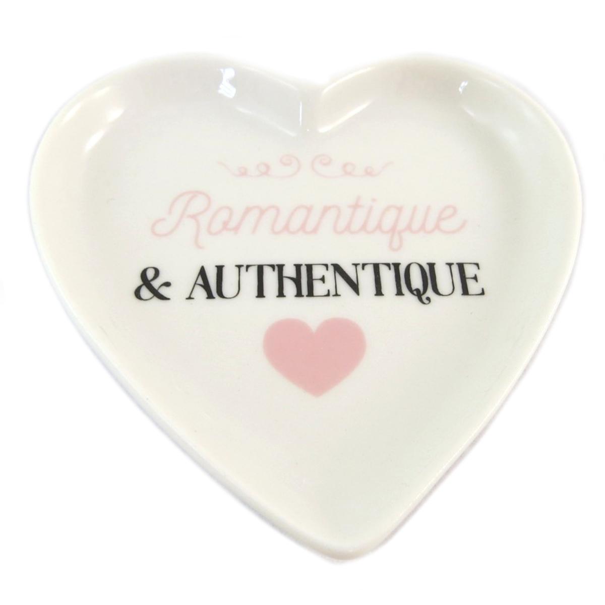 Repose sachet de thé céramique \'Love\' (Romantique et authentique) - 9x9 cm - [Q0454]