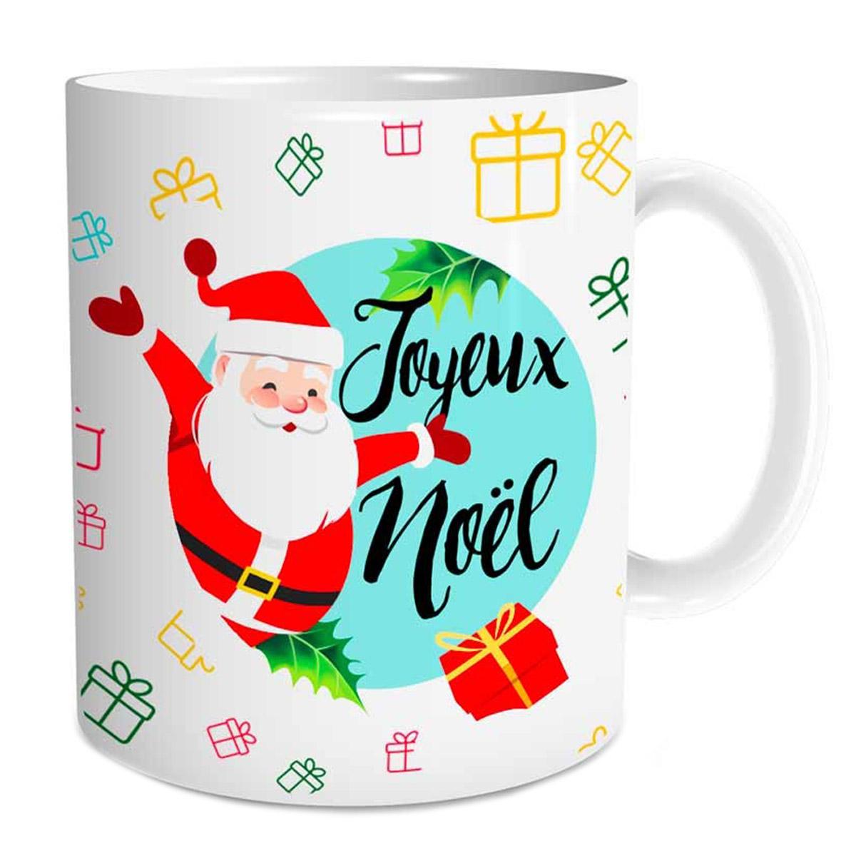 Mug céramique \'Joyeux Noël\' (Père Noël) - 95x8 cm - [Q3558]