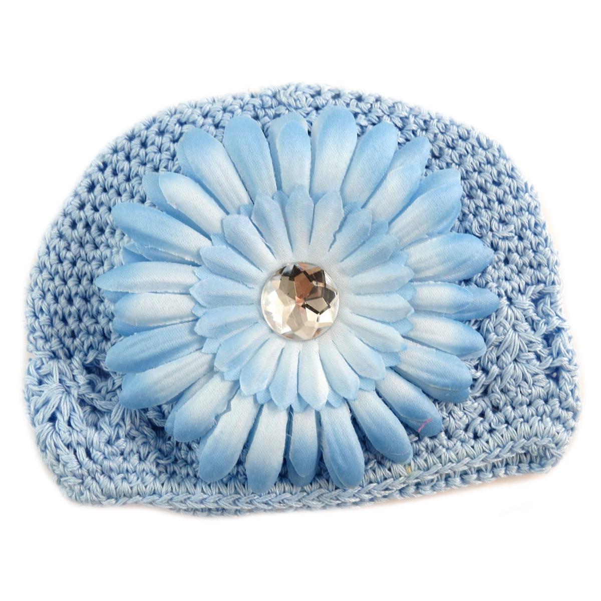 Bonnet enfant \'Petite Lily\' bleu ciel - [Q5239]