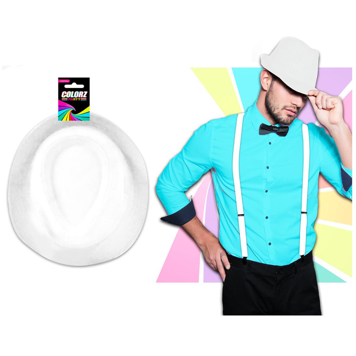 Borsalino \'White Party\' blanc - [Q5518]
