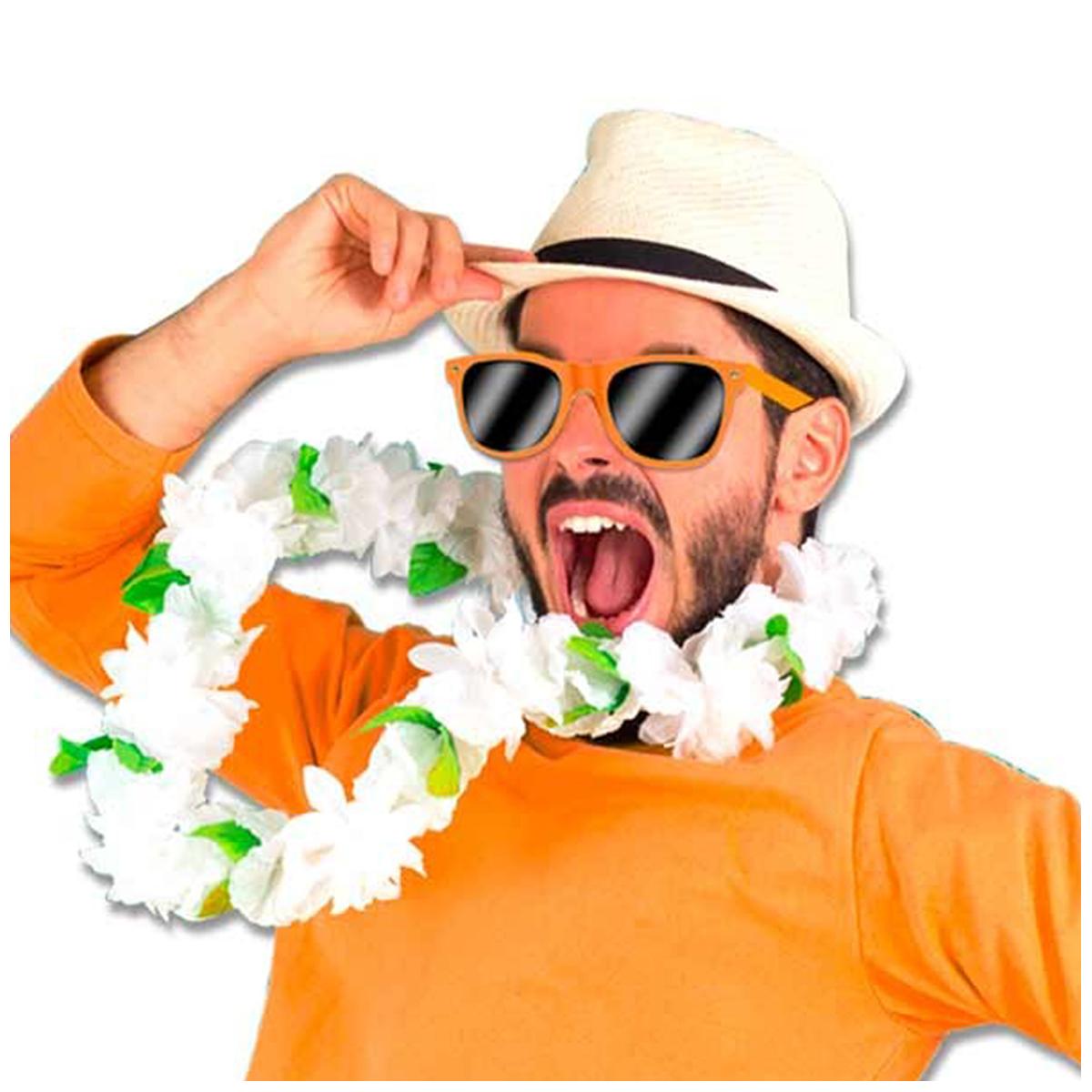 Lunettes de fête \'Coloriage\' orange - [Q5561]
