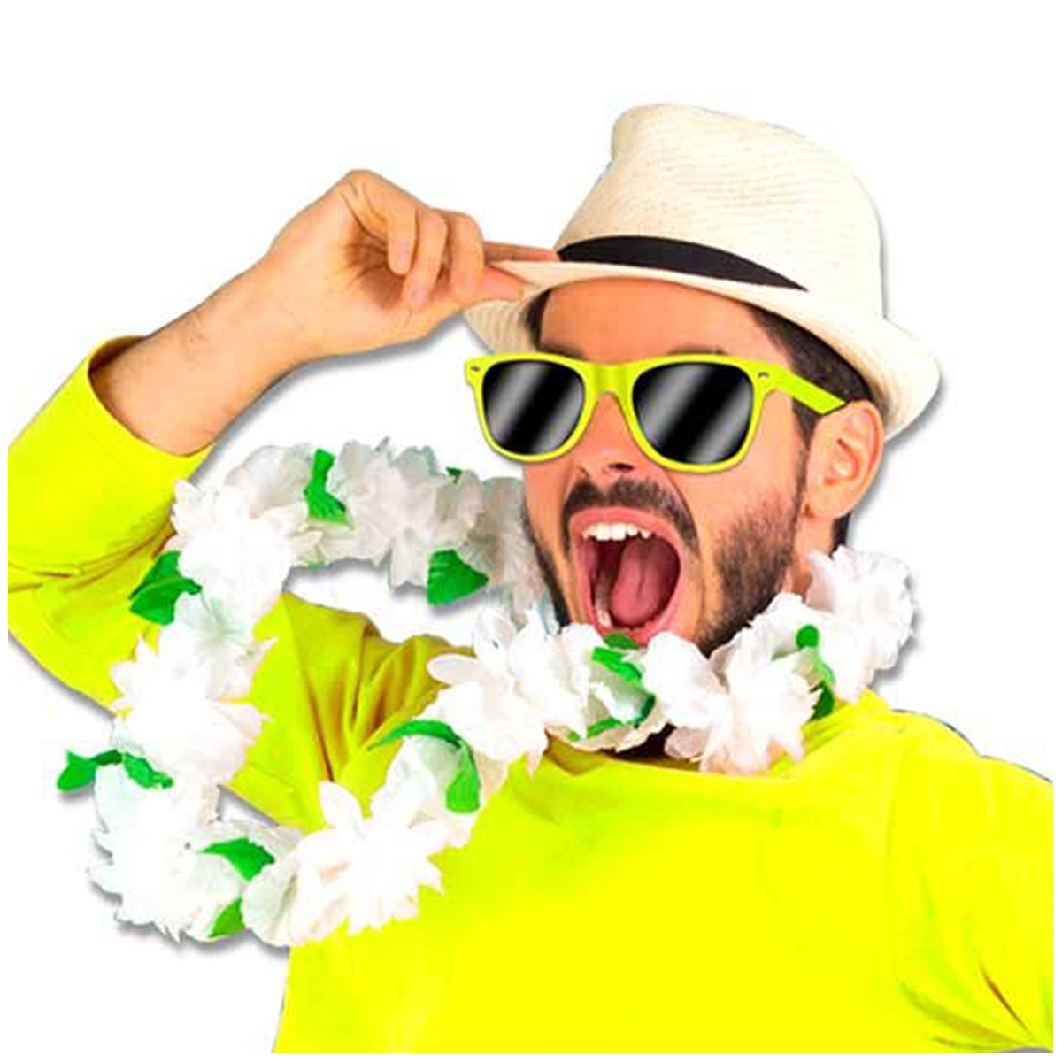 Lunettes de fête \'Coloriage\' jaune - [Q5563]