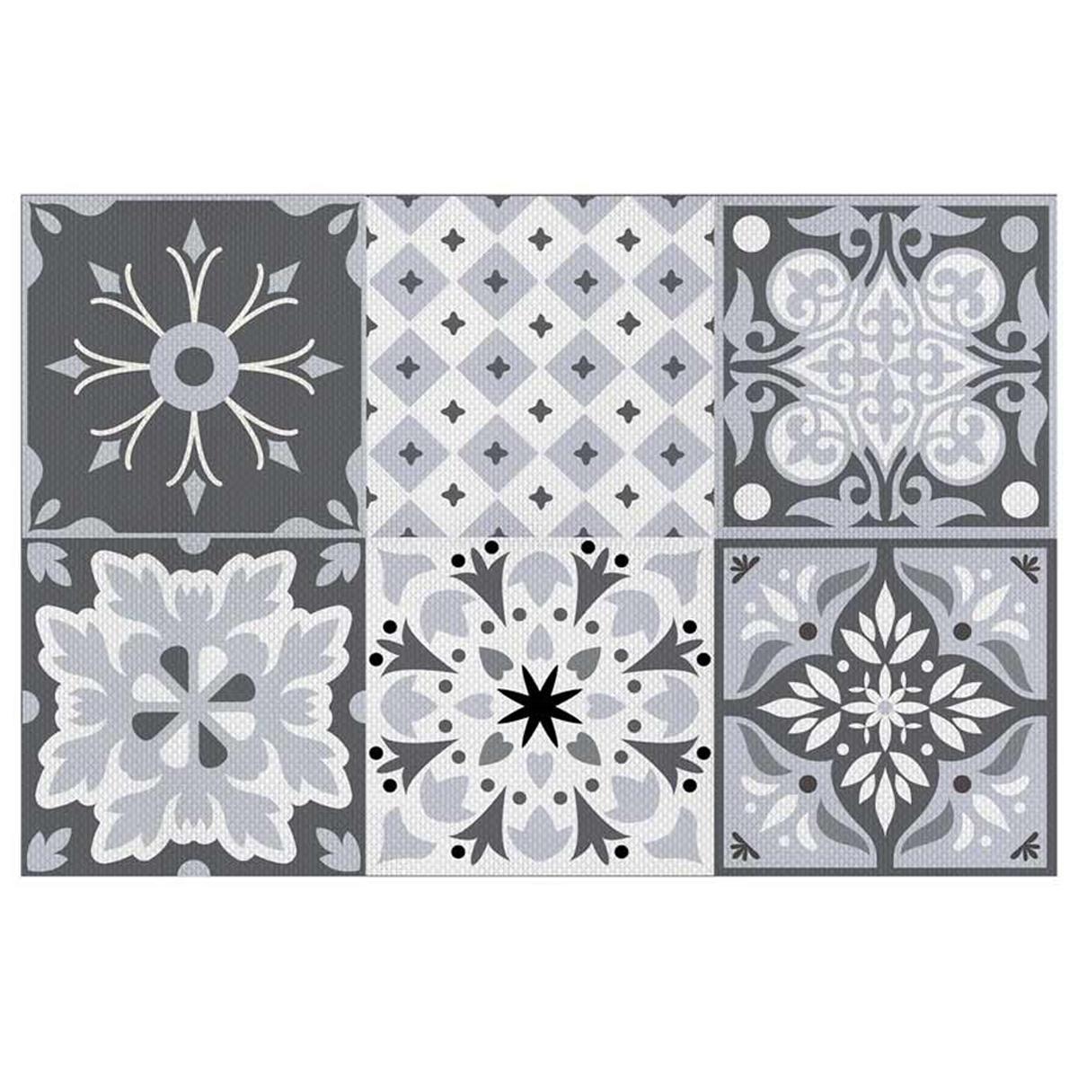 Set de table plastifié \'Boho\' gris (carreaux) - 43x28 cm - [Q5594]