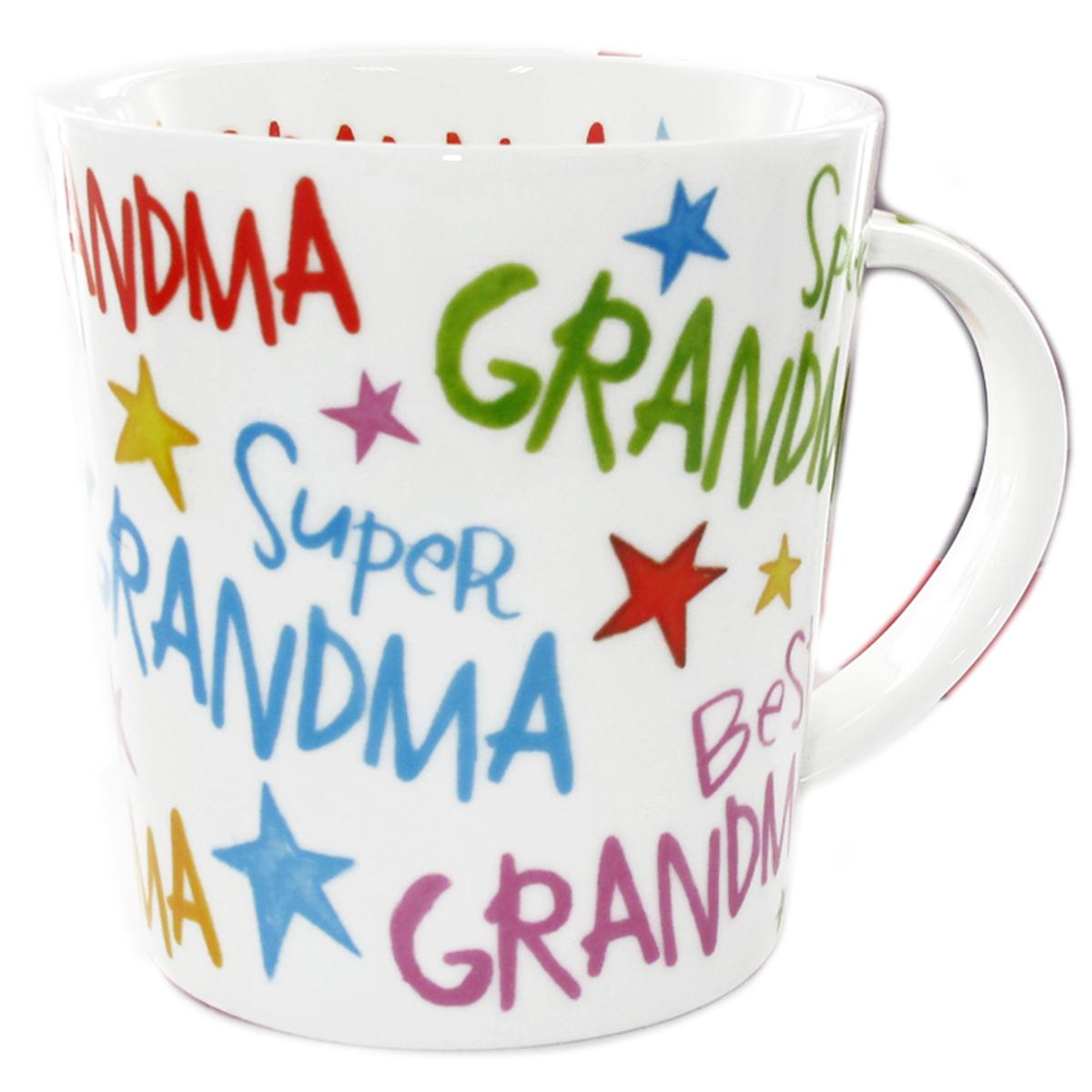 Mug porcelaine \'Messages\' (Special Grandma, Best Grandma, Super Grandma) - 9x9 cm - [Q7219]