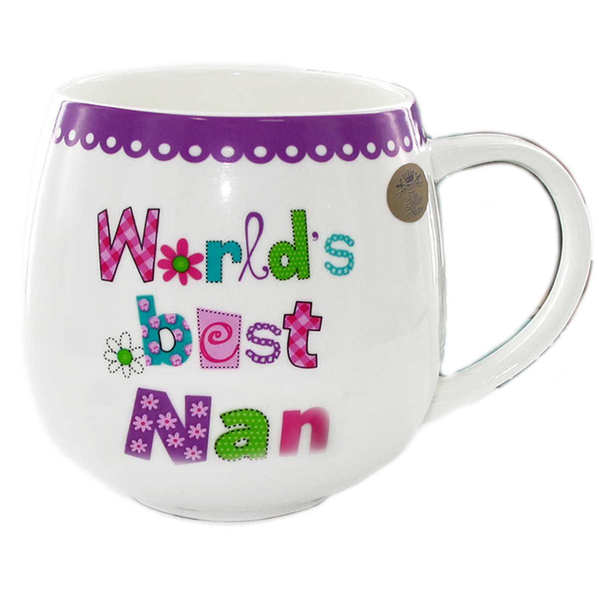 Mug porcelaine \'Messages\' (World\'s best Nan) - 10x75 cm - [Q7220]