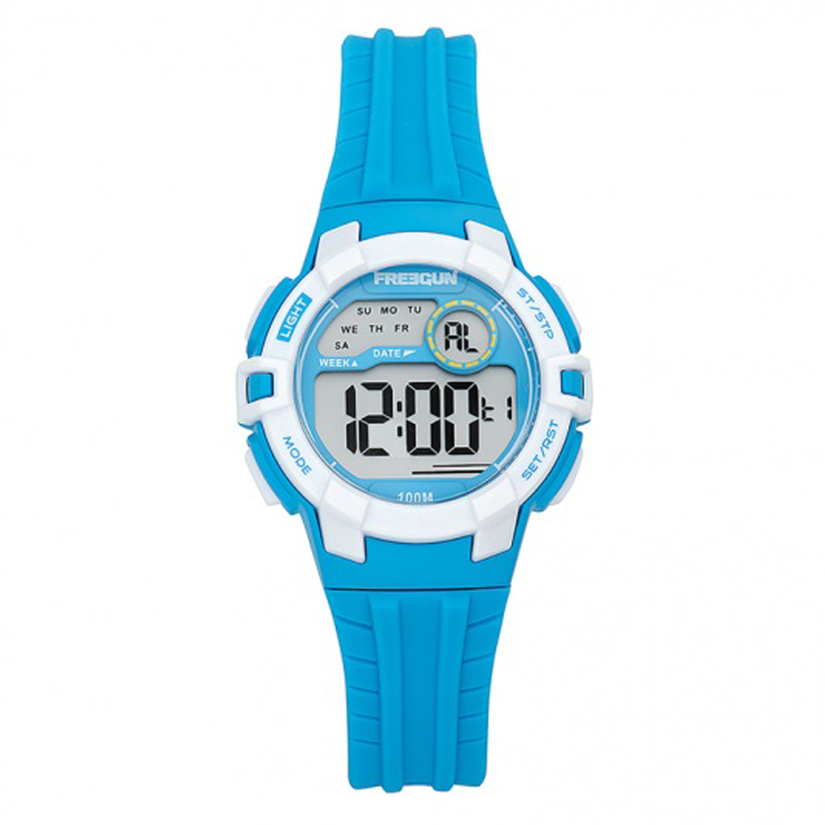 Montre apex étanche \'Freegun\' bleu (digital) - 35 mm - [Q7423]