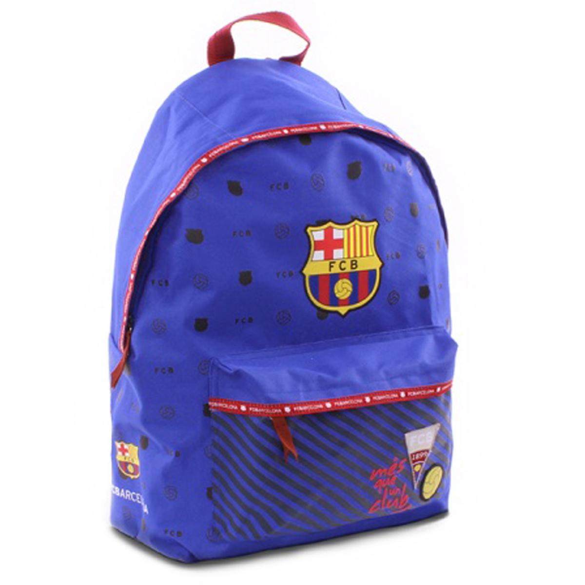 Sac à dos \'FC Barcelona\' bleu rouge - 40x30x14 cm - [Q7431]