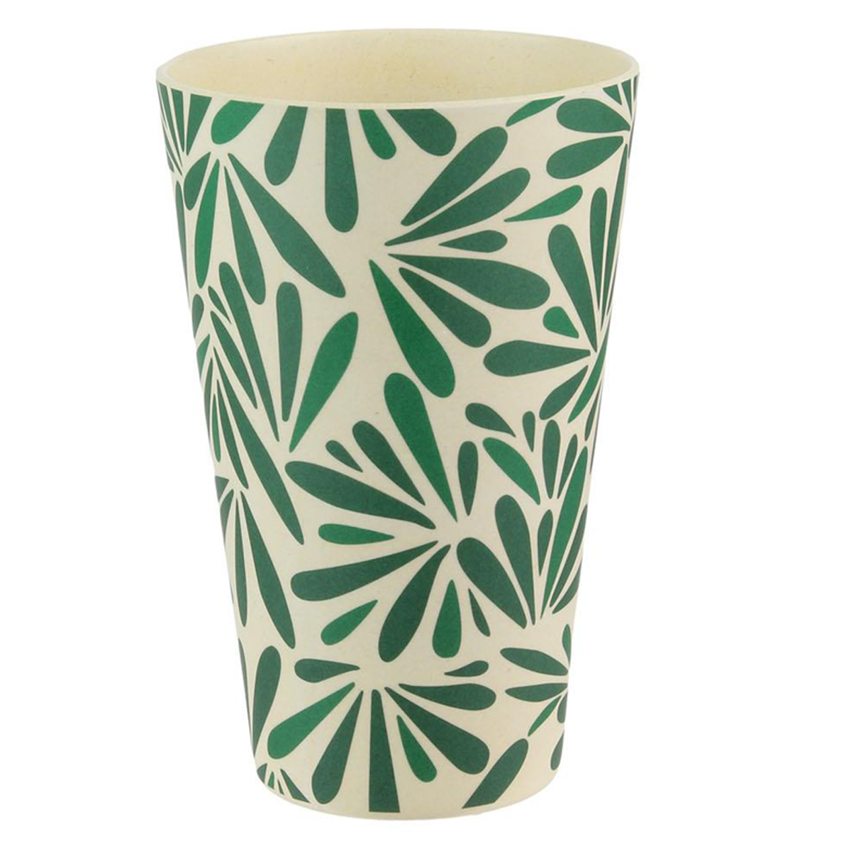 Gobelet verre bambou \'Jungle\' vert beige - 13x8 cm (435 ml) - [Q7759]