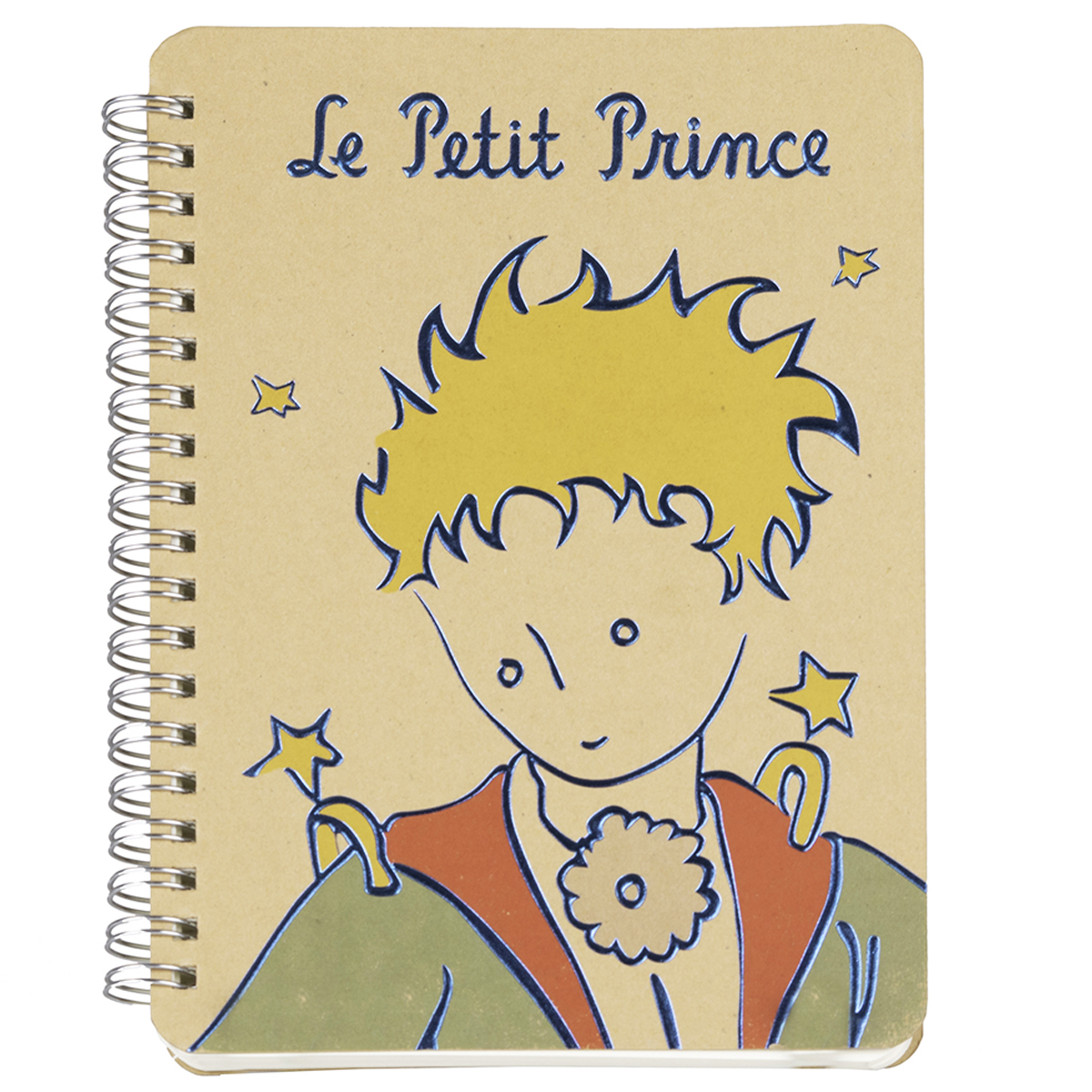 Carnet à spirale \'Le Petit Prince\' beige (portrait) - 18x13 cm - [Q8320]