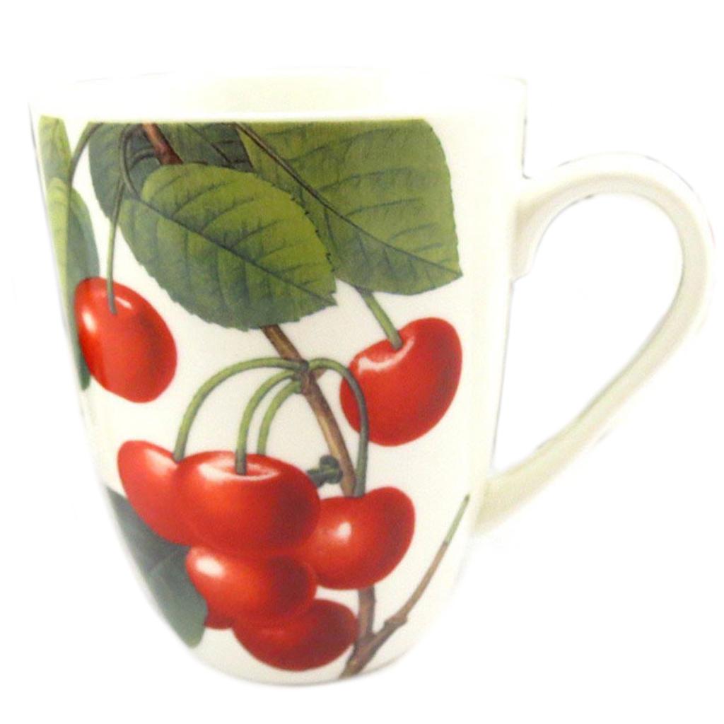 Mug céramique \'Verger Gourmand\' cerise - 10x8 cm - [Q8825]