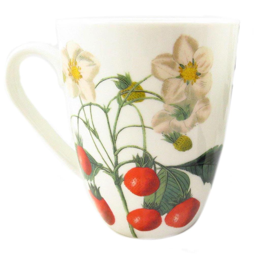 Mug céramique \'Verger Gourmand\' fraise - 10x8 cm - [Q8826]
