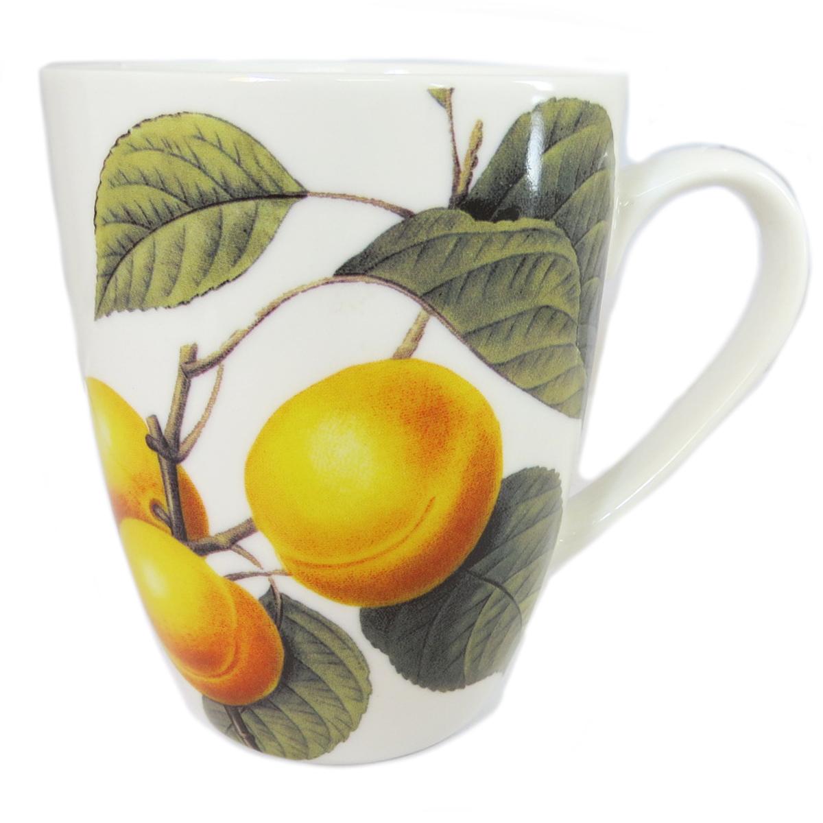 Mug céramique \'Verger Gourmand\' abricot - 10x8 cm - [Q8828]