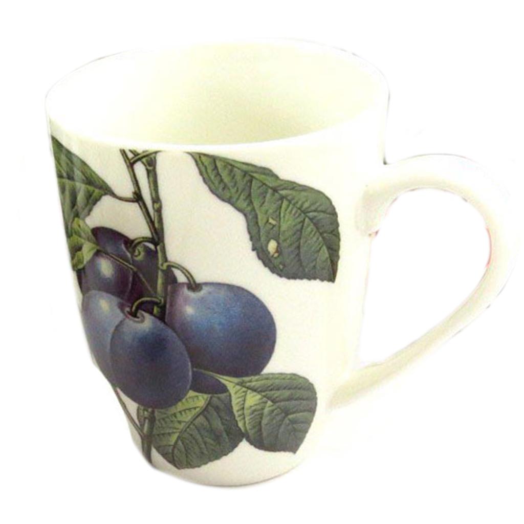 Mug céramique \'Verger Gourmand\' quetsche - 10x8 cm - [Q8832]