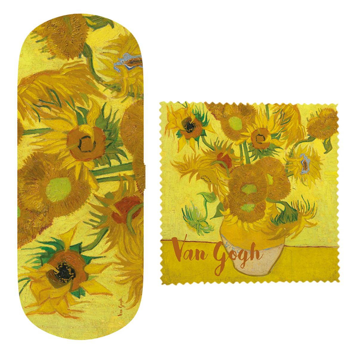 Etui à lunettes \'Vincent Van Gogh\' (Les Tournesols) - 16x6x36 cm - [Q9272]