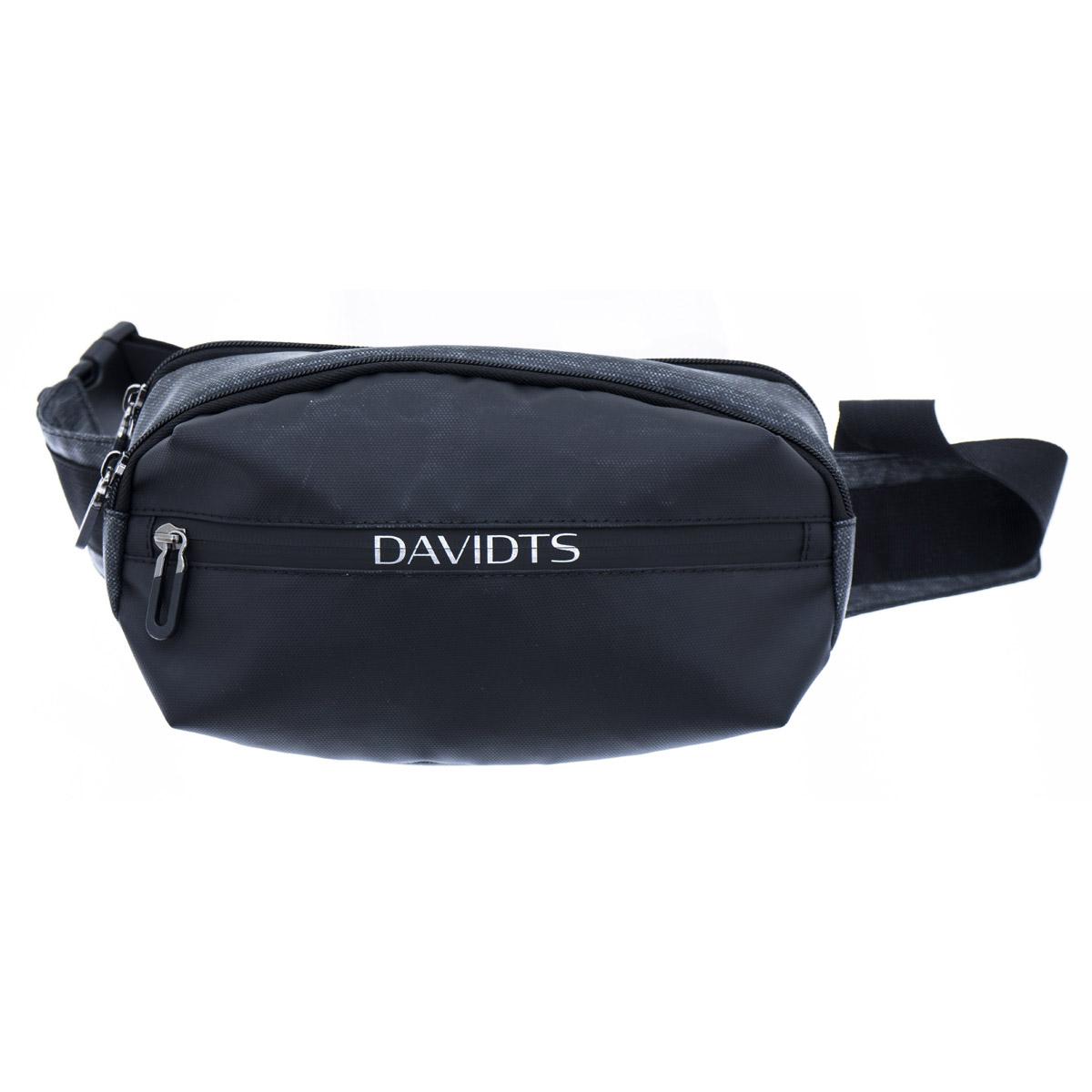 Pochette ceinture / banane toile \'Urban Traveler\' noir gris (2 compartiments) - 255x14x65 cm - [Q9939]