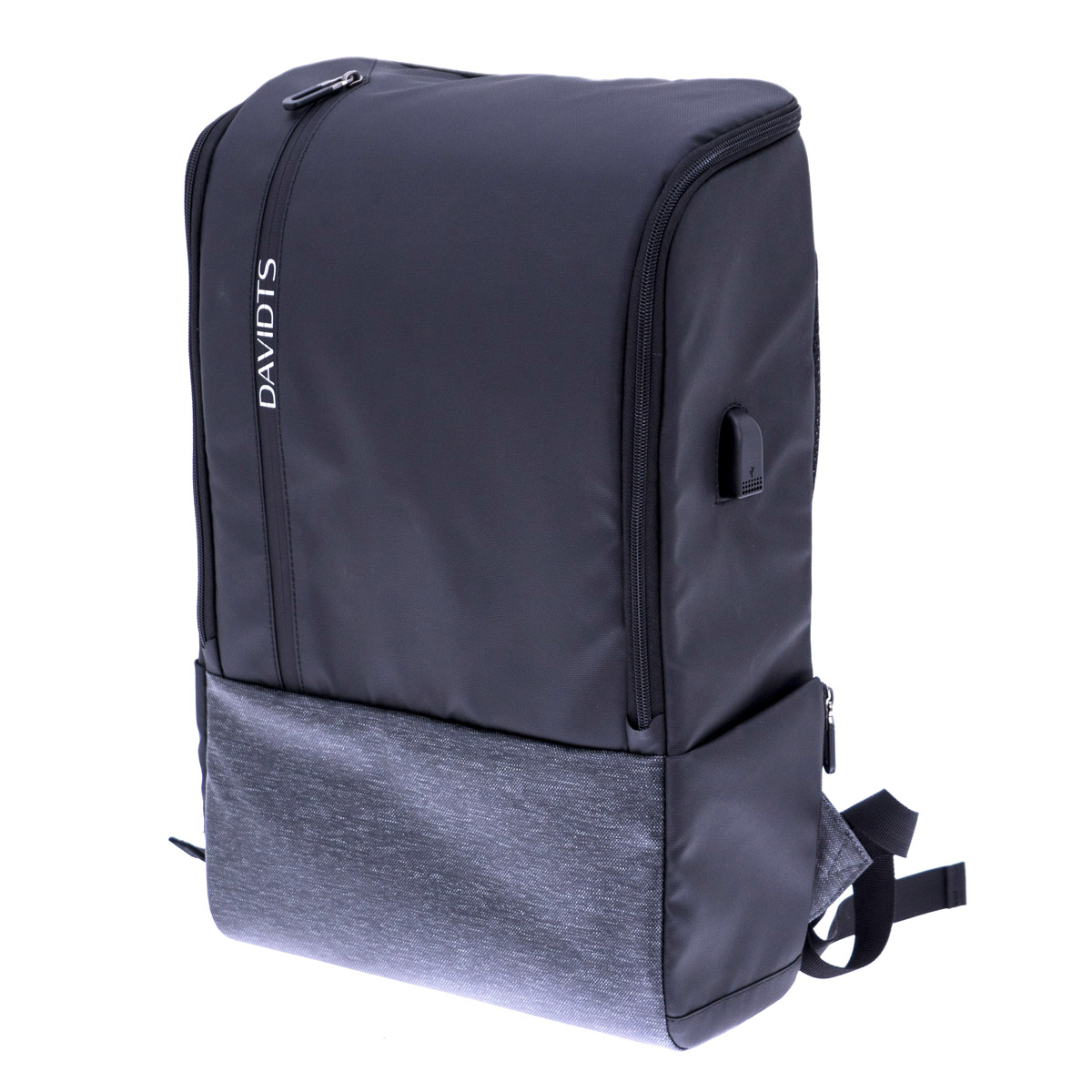 Sac à dos anti-vol, port usb \'Urban Traveler\' noir gris (ordinateur 17\' et tablette) - 47x305x15 cm - [Q9944]